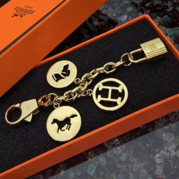 Hermes Bag Charms Short Chain Gold