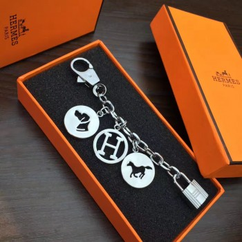 Hermes Bag Charms Short Chain Silver