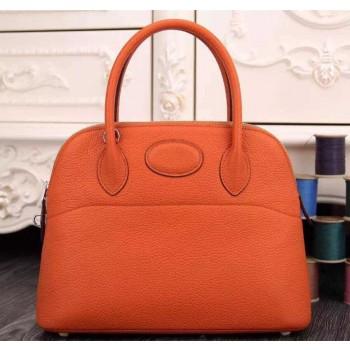 Hermes Bolide 31cm Togo Leather Orange Bag