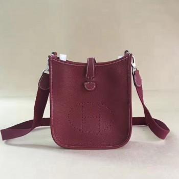 Hermes Mini Evelyne TPM Bag Burgundy