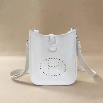 Hermes Mini Evelyne TPM Bag White