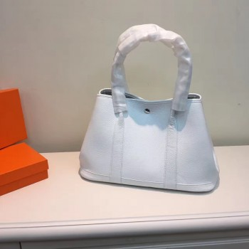 Hermes Garden Party Handbag Small 31cm White