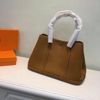 Hermes Garden Party Handbag Small 31cm Brown