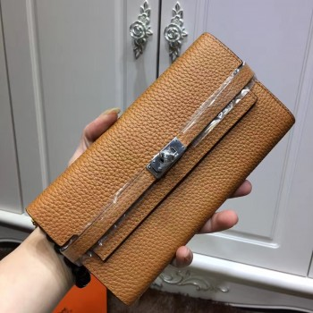 Hermes Kelly Wallet Togo Leather Camel