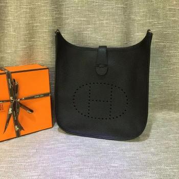 Hermes Evelyne III Togo Leather Crossbody Bag Black