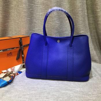 Hermes Garden Party Handbag Large 36cm Electric Blue