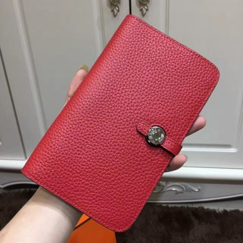 Hermes Dogon Wallet Togo Leather H001 Red