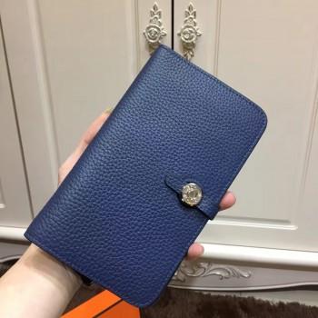 Hermes Dogon Wallet Togo Leather H001 Dark Blue