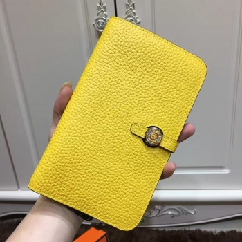 Hermes Dogon Wallet Togo Leather H001 Yellow