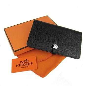 Hermes Dogon Wallet Togo Leather H001 Black