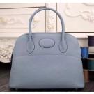 Hermes Bolide 31cm Togo Leather Blue Lin Bag
