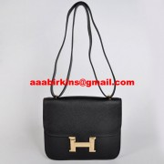 Hermes Constance Bag 23cm Togo Leather Black Gold