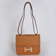 Hermes Constance Bag 23cm Togo Leather Camel Gold