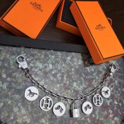 Hermes Bag Charms Long Chain Silver