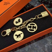 Hermes Bag Charms Short Chain Gold
