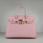 Hermes Birkin 30cm Togo leather Handbags pink golden