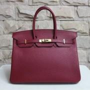 Hermes Birkin 35cm Togo leather Handbag burgundy gold