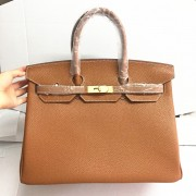 Hermes Birkin 35cm Togo leather Handbags camel gold