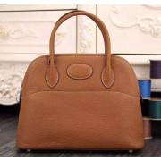 Hermes Bolide 31cm Togo Leather Brown Bag