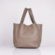 Hermes Calf Leather 8616 Handbag Dark Gray