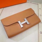 Hermes Constance Wallet Togo Leather Camel