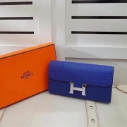 Hermes Constance Wallet Togo Leather Electric Blue