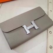 Hermes Constance Wallet Togo Leather Grey