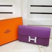 Hermes Constance Wallet Togo Leather Purple