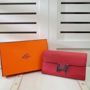 Hermes Constance Wallet Togo Leather Red