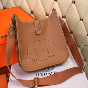 Hermes Evelyne III Togo Leather Crossbody Bag Brown