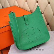 Hermes Evelyne III Togo Leather Crossbody Bag Green
