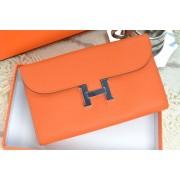 Hermes H Wallet Orange Silver