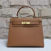 Hermes Kelly 28cm Epsom Leather Handbag Brown Gold