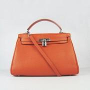Hermes Kelly 32cm Togo leather 6108 orange silver