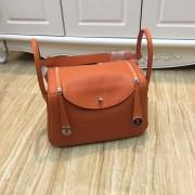 Hermes Lindy 30cm Handbag Orange Silver