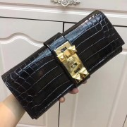 Hermes Medor Clutch 29cm Croco Black