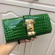 Hermes Medor Clutch 29cm Croco Green