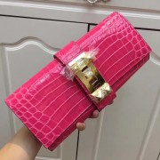 Hermes Medor Clutch 29cm Croco Rose