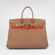 Hermes Birkin 30cm Togo Leather Handbags Light Coffee Gold