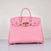 Hermes Birkin 35cm Togo leather Handbags Cherry Pink Golden