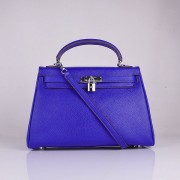 Hermes Kelly 32cm Togo leather 6108 electric blue silver