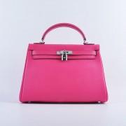 Hermes Kelly 32cm Togo leather 6108 Rose silver