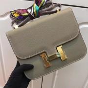 Hermes Constance Bag 23cm Epsom Leather Grey Gold