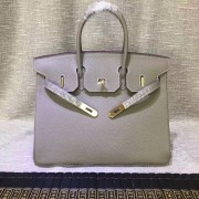 Hermes Birkin 30cm Togo leather Handbags elephant grey gold