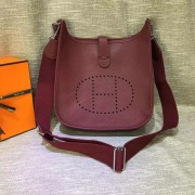 Hermes Evelyne III Togo Leather Crossbody Bag Burgundy