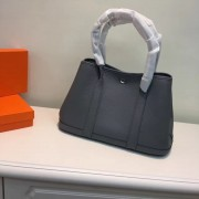 Hermes Garden Party Handbag Small 31cm Dark Grey