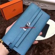 Hermes Kelly Wallet Togo Leather Blue