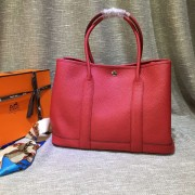 Hermes Garden Party Handbag Large 36cm Red