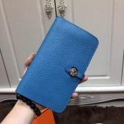 Hermes Dogon Wallet Togo Leather H001 Blue
