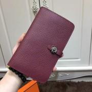 Hermes Dogon Wallet Togo Leather H001 Burgundy